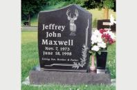 Single Family Monument for Jeffrey Maxwell 520103