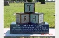 Single Grave Monument for Thatcher Helmig 520123